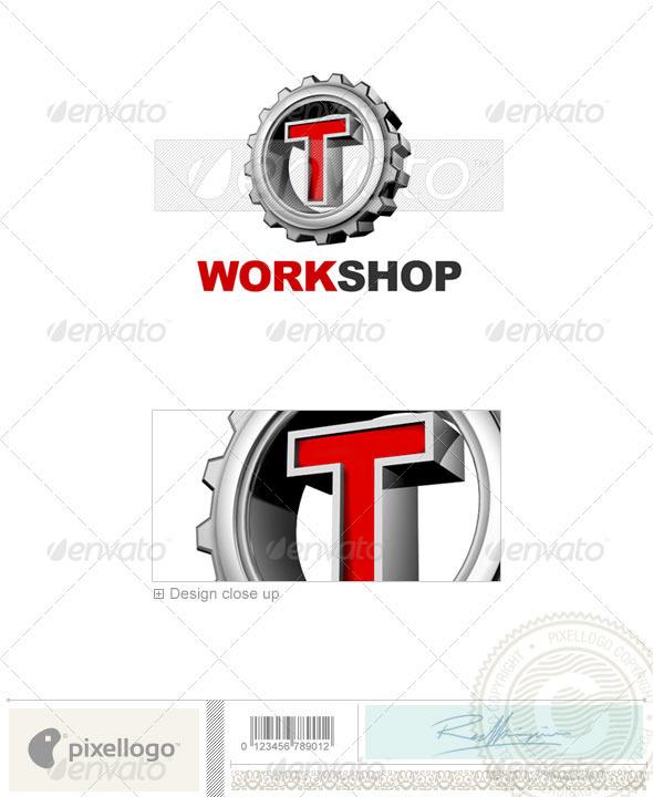 T Logo - 3D-292-T - Letters Logo Templates