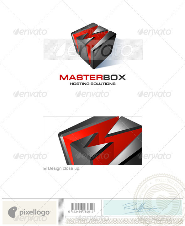 Technology Logo - 3D-109 - 3d Abstract