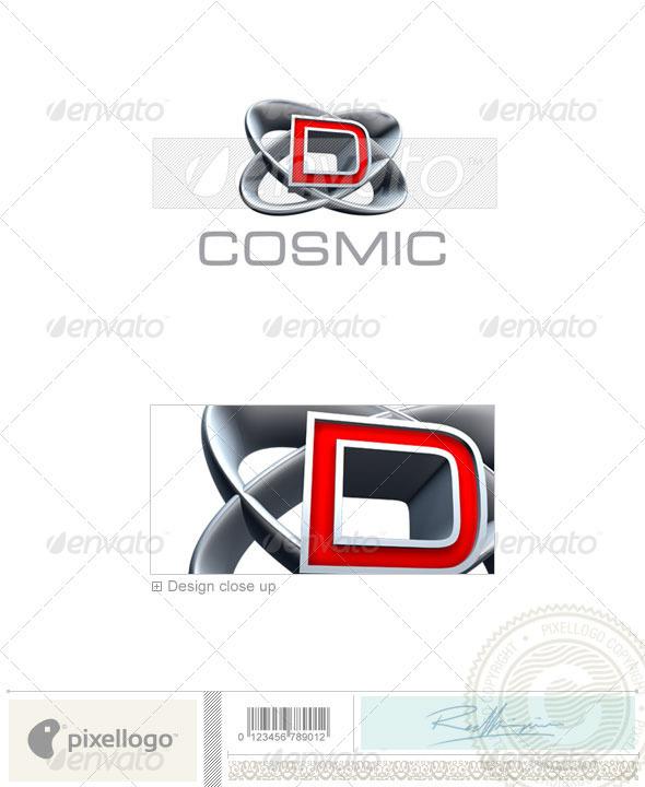 D Logo - 3D-348-D - Letters Logo Templates