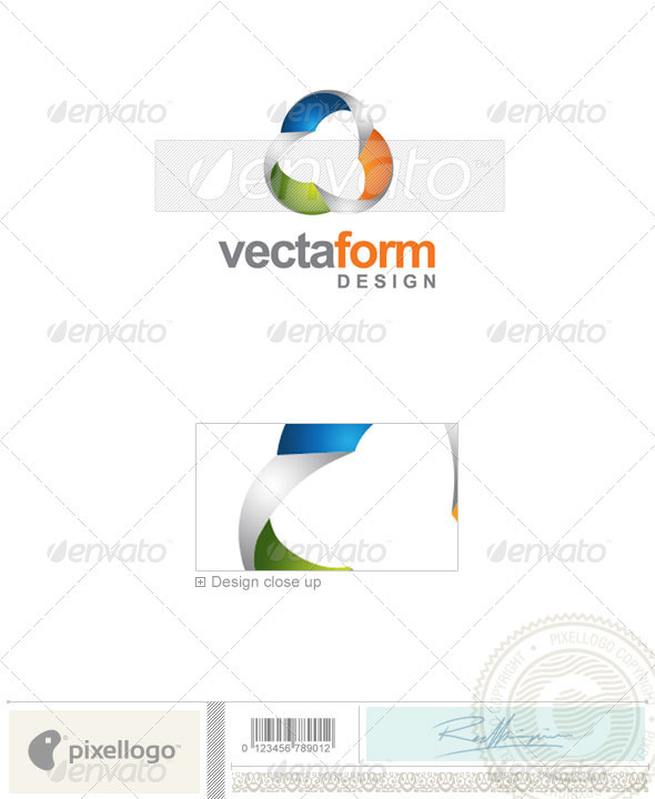 Print & Design Logo - 1823 - Vector Abstract