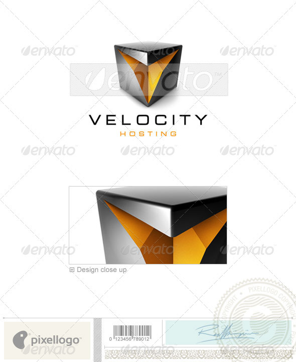 Technology Logo - 3D-470 - 3d Abstract