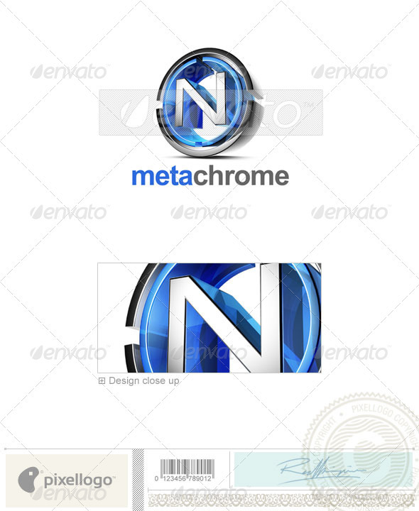N Logo - 3D-476-N - Letters Logo Templates