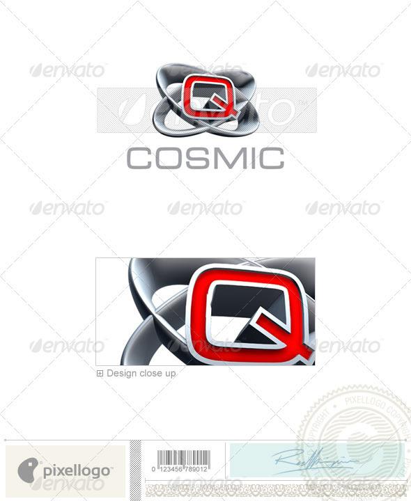 Q Logo - 3D-348-Q - Letters Logo Templates