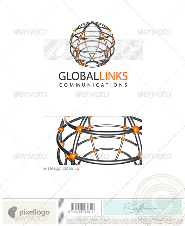 Communications Logo - 3D-20 - 3d Abstract