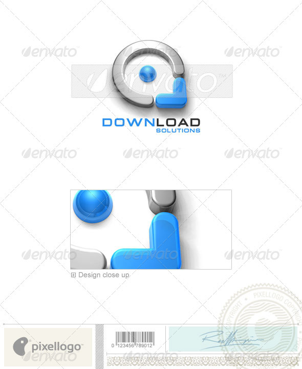 Technology Logo - 3D-163 - 3d Abstract