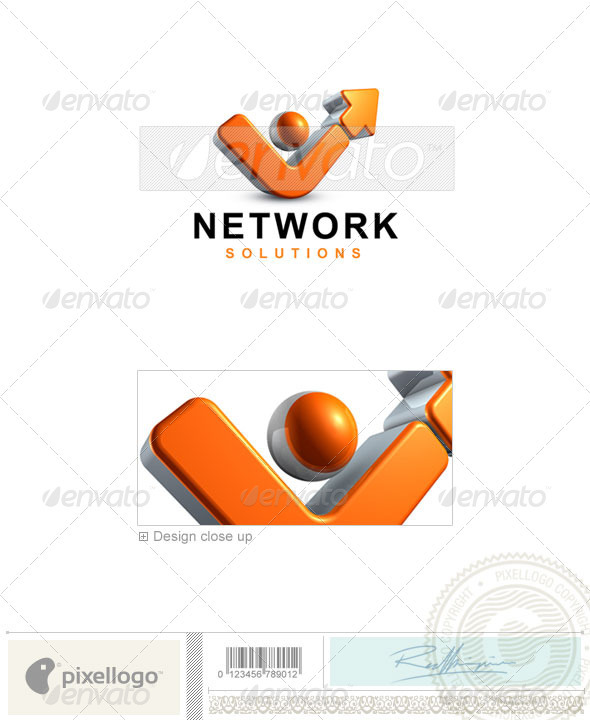 Business & Finance Logo - 3D-408 - 3d Abstract