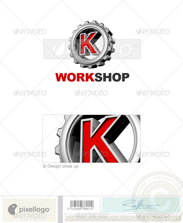 K Logo - 3D-292-K - Letters Logo Templates