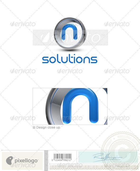 N Logo - 3D-288-N - Letters Logo Templates