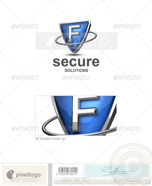 F Logo - 3D-285-F - Letters Logo Templates