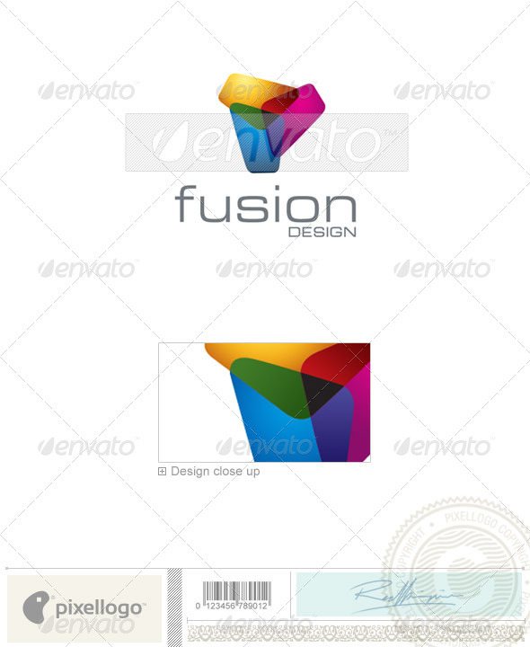 Print & Design Logo - 1672 - Vector Abstract