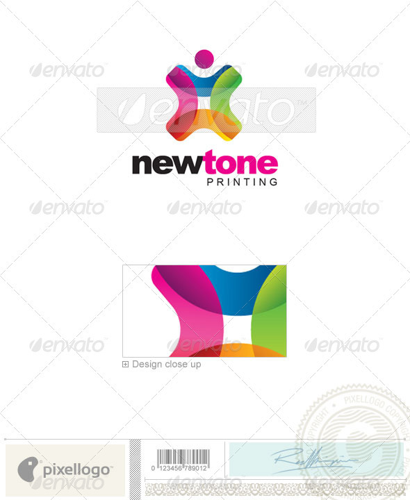 Print & Design Logo - 2183 - Vector Abstract