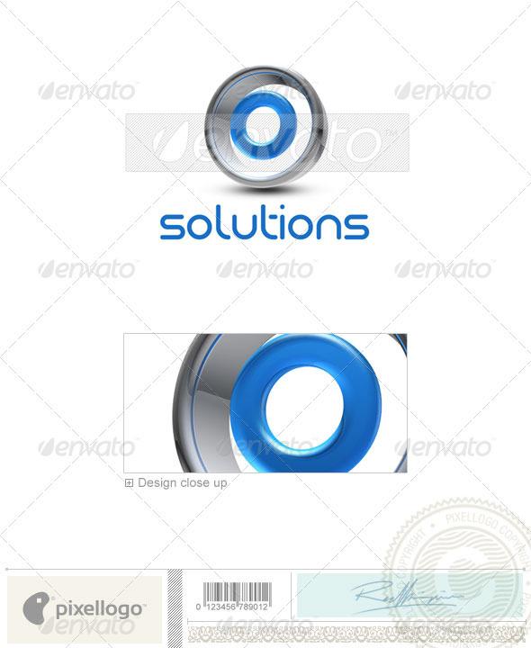 O Logo - 3D-288-O - Letters Logo Templates