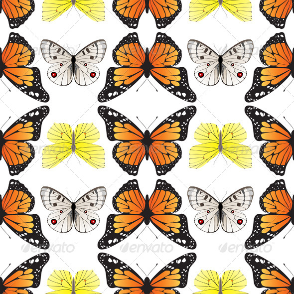 Seamless Butterfly Ornament - Patterns Decorative