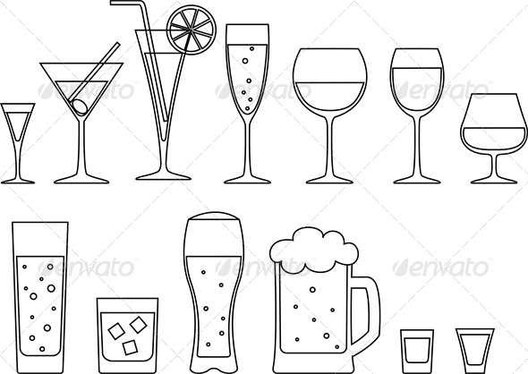 Set of Drinks - Food Objects