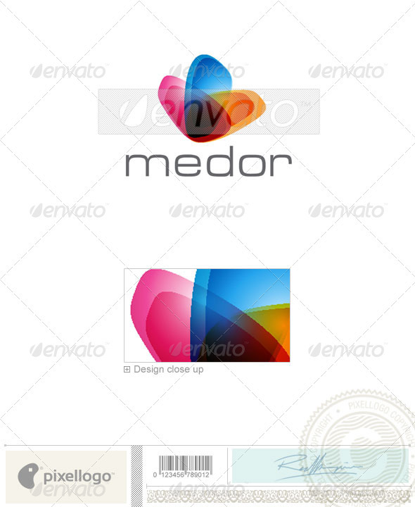 Print & Design Logo - 1927 - Vector Abstract