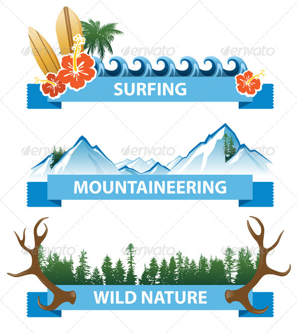 Adventure Banners - Landscapes Nature