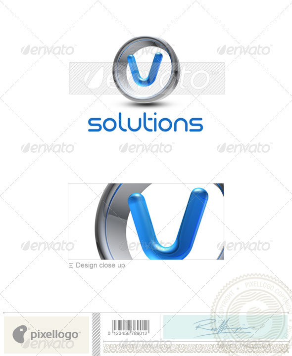 V Logo - 3D-288-V - Letters Logo Templates