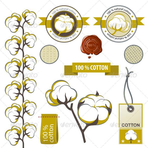 Cotton Emblems - Flowers & Plants Nature