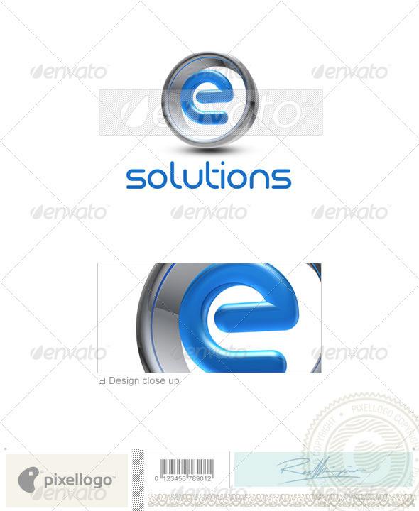 E Logo - 3D-288-E - Letters Logo Templates