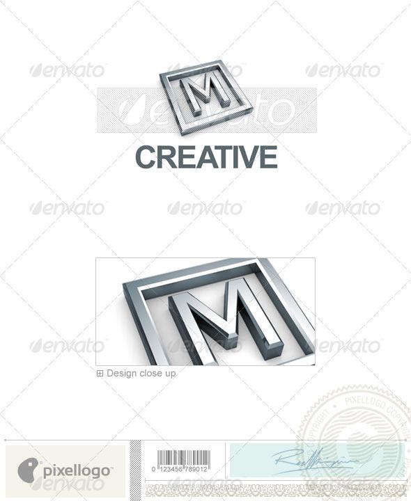 M Logo - 3D-295-M - Letters Logo Templates