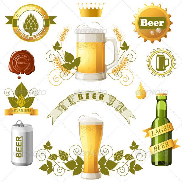 Beer Emblems - Objects Vectors