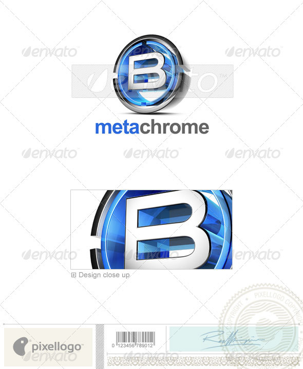 B Logo - 3D-476-B - Letters Logo Templates