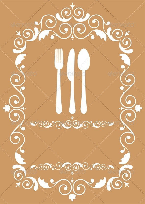 Template of Restaurant Menu - Food Objects