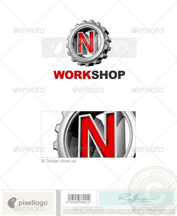 N Logo - 3D-292-N - Letters Logo Templates