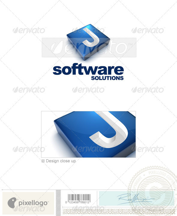 J Logo - 3D-644-J - Letters Logo Templates