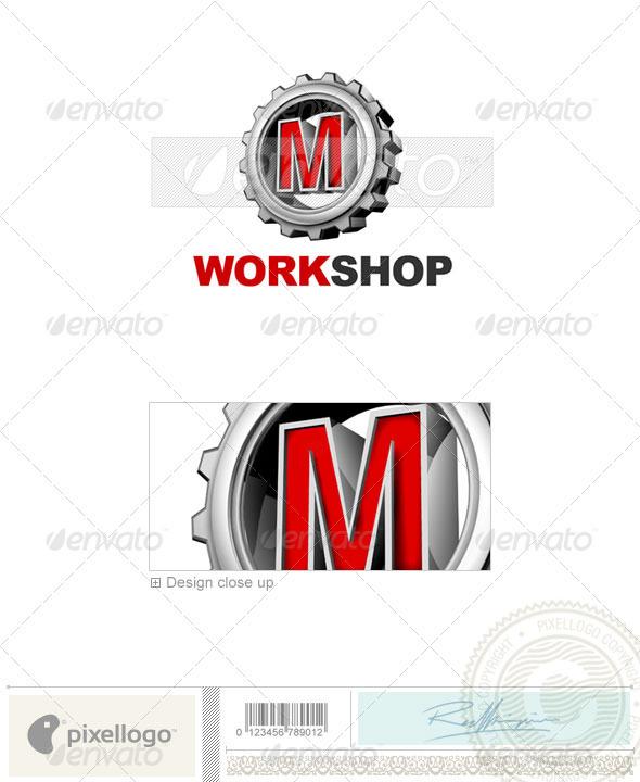 M Logo - 3D-292-M - Letters Logo Templates