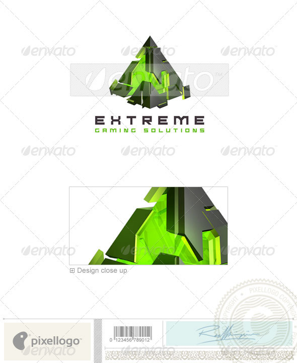 Technology Logo - 3D-260 - 3d Abstract