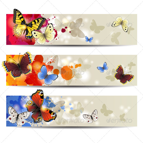 Butterfly Banners - Animals Characters
