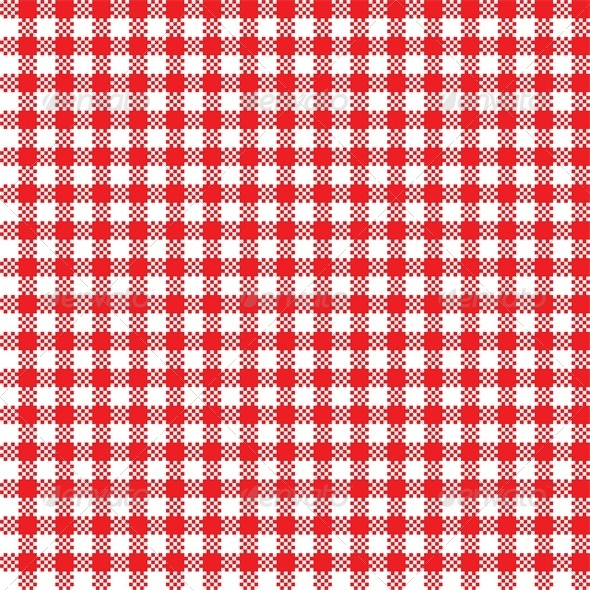 Red and White Tablecloth Pattern - Patterns Decorative
