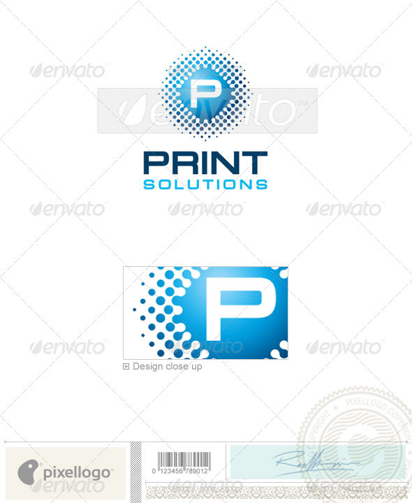 Print & Design Logo - 1934 - Vector Abstract