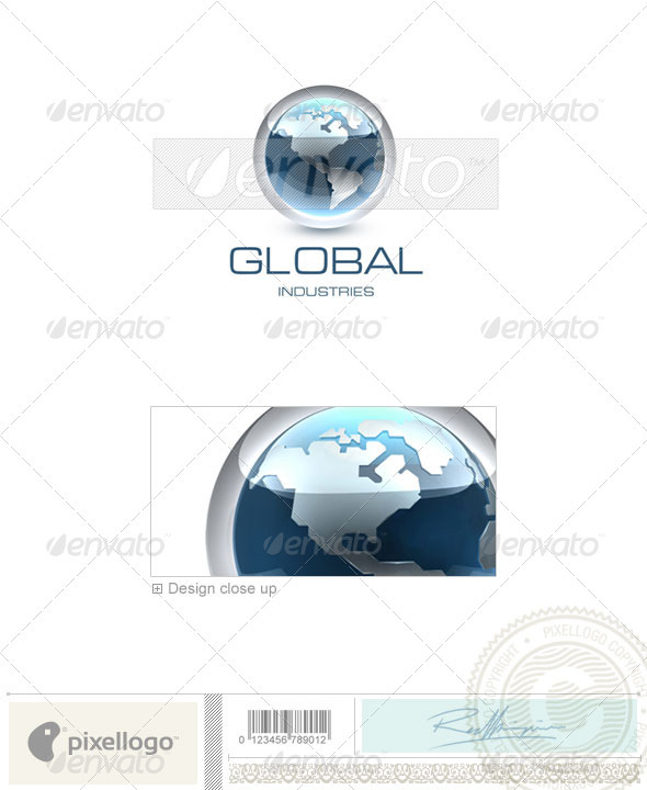 Communications Logo - 3D-249 - 3d Abstract