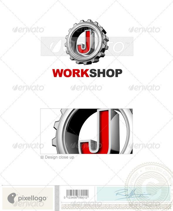 J Logo - 3D-292-J - Letters Logo Templates