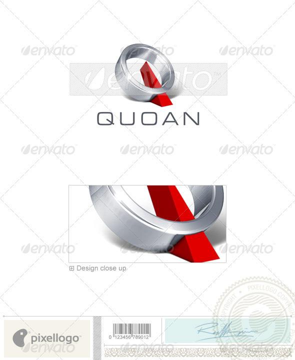 Q Logo - 3D-277 - Letters Logo Templates