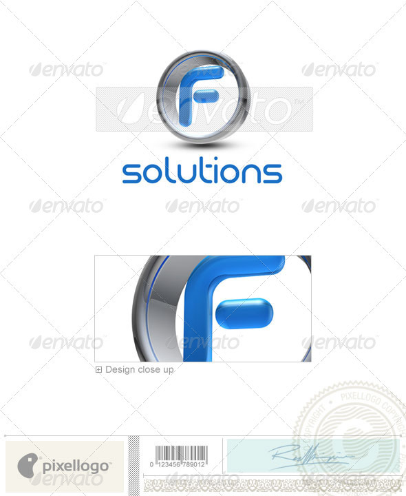 F Logo - 3D-288-F - Letters Logo Templates