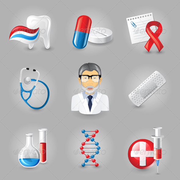 Medical Icons - Objects Vectors