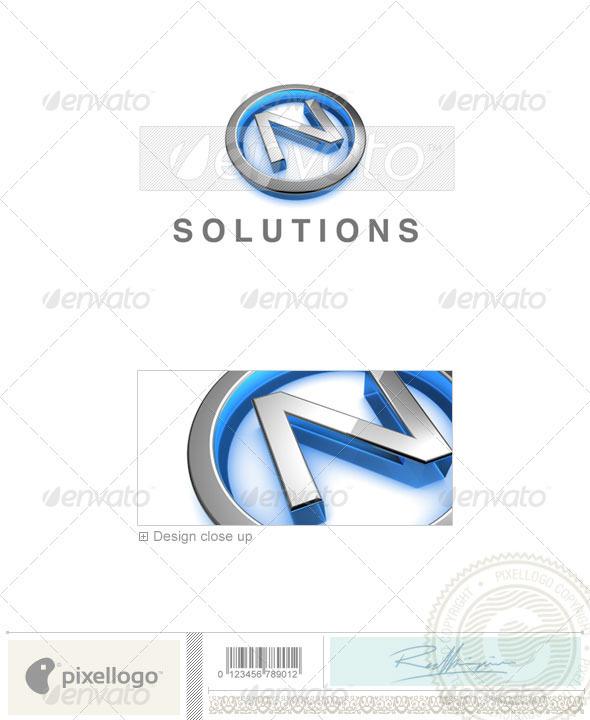 N Logo - 3D-683-N - Letters Logo Templates