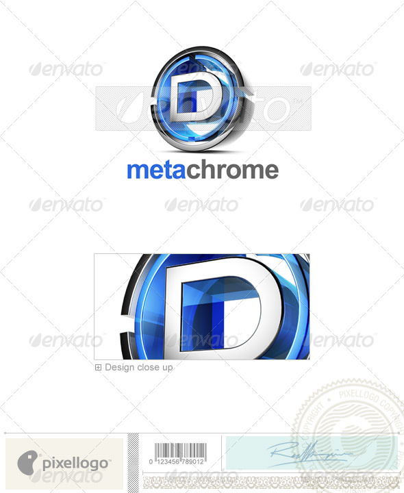 D Logo - 3D-476-D - Letters Logo Templates