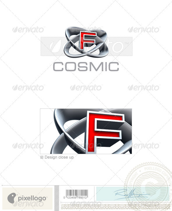F Logo - 3D-348-F - Letters Logo Templates