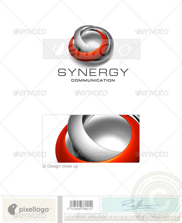 Communications Logo - 3D-270 - 3d Abstract