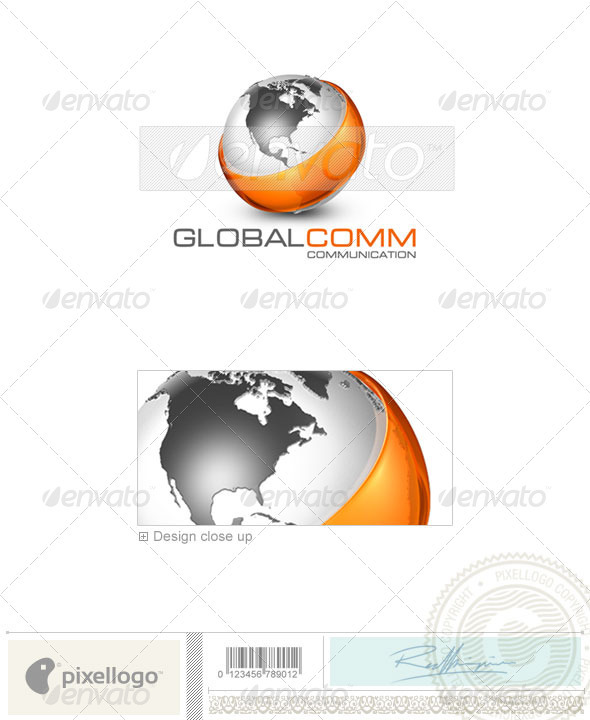 Communications Logo - 3D-23 - 3d Abstract