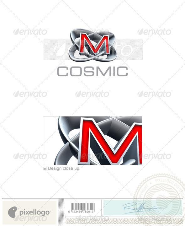 M Logo - 3D-348-M - Letters Logo Templates