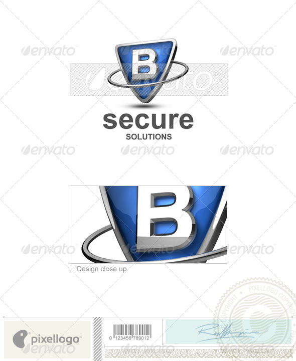 B Logo - 3D-285-B - Letters Logo Templates