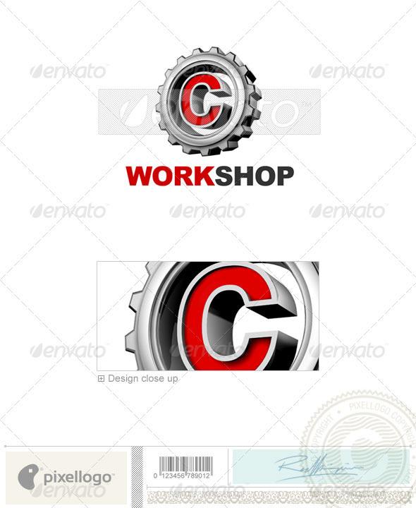 C Logo - 3D-292-C - Letters Logo Templates
