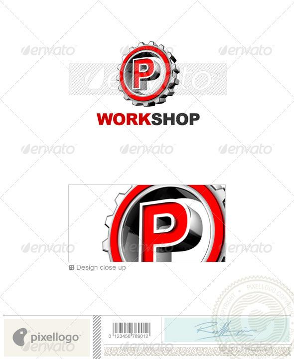 P Logo - 3D-292-P - Letters Logo Templates