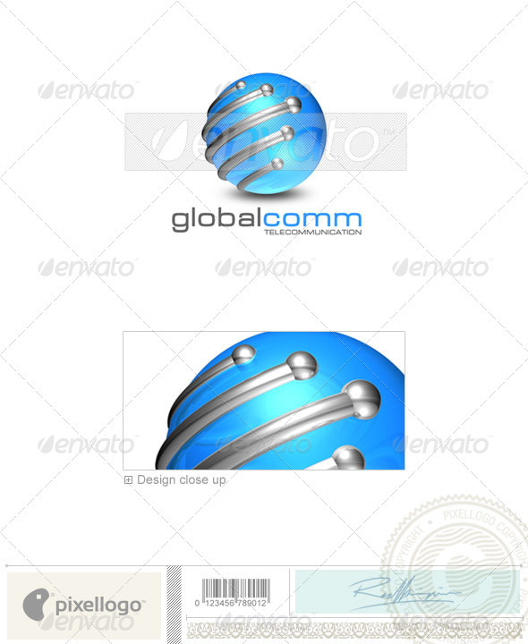 Communications Logo - 3D-176 - 3d Abstract