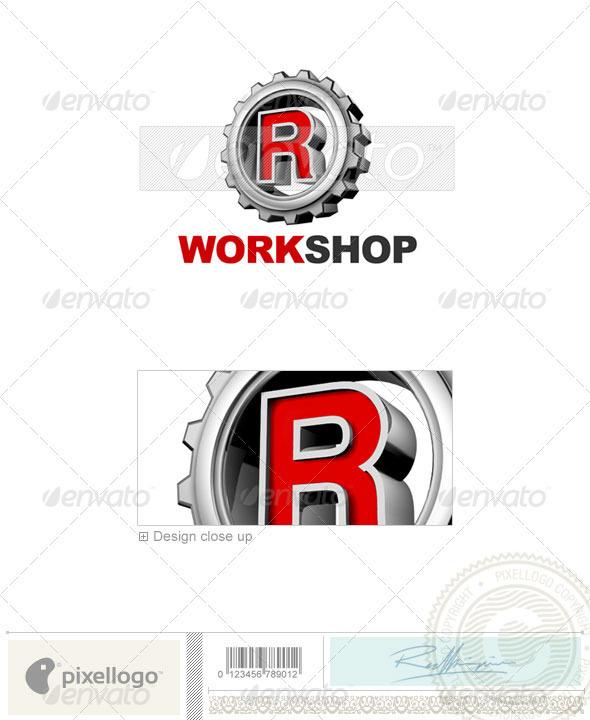 R Logo - 3D-292-R - Letters Logo Templates